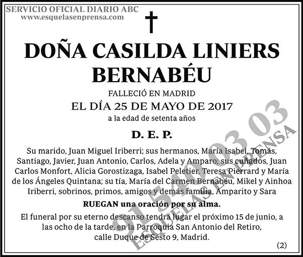 Casilda Liniers Bernabéu